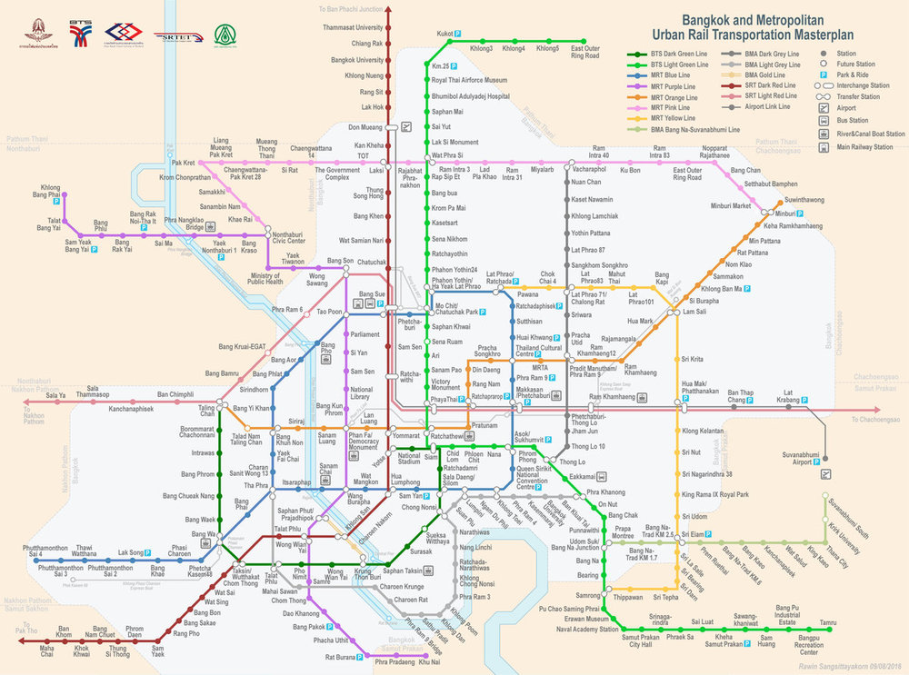 Future Bangkok Train Map