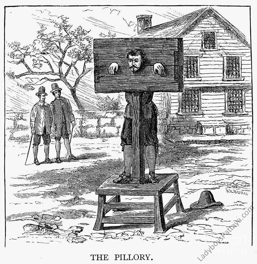 Pillory and stocks naked pic