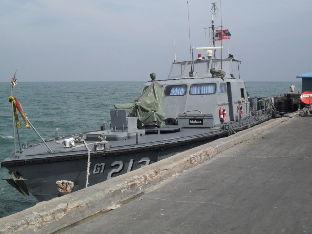 Thai Navy Motor Boat at Hua Hin.jpg